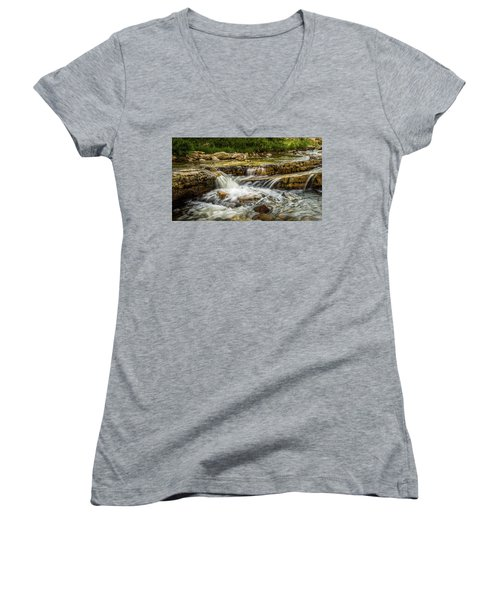 Rushing Waters - Upper Provo River Women's V-Neck