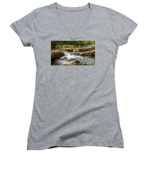 Rushing Waters - Upper Provo River Women's V-Neck