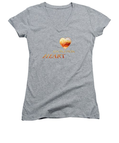 Women's V-Neck featuring the photograph Russet Lane by Valerie Anne Kelly