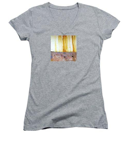Rust Women's V-Neck T-Shirt (Junior Cut) by Anne Kotan