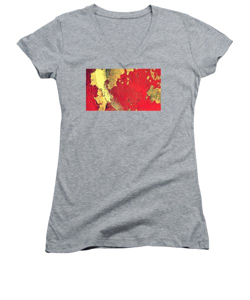 Rust Women's V-Neck