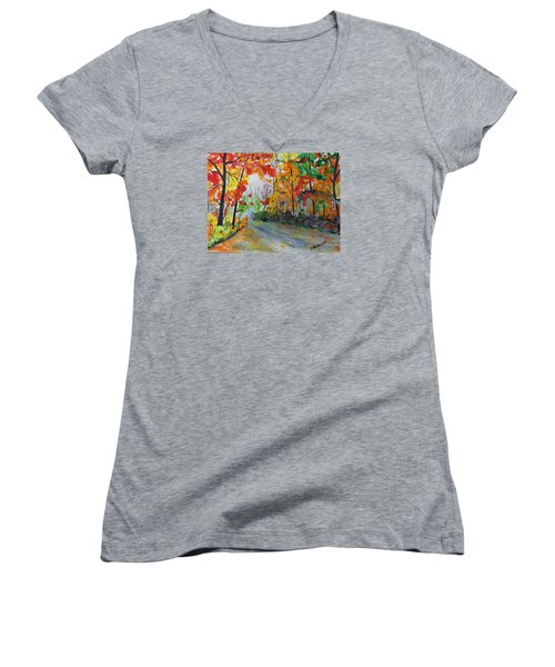 Rustic Road Women's V-Neck T-Shirt
