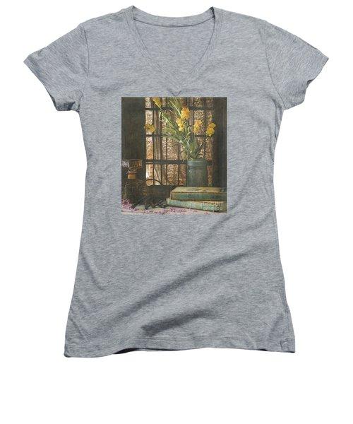Rustic Still Life 1 Women's V-Neck T-Shirt