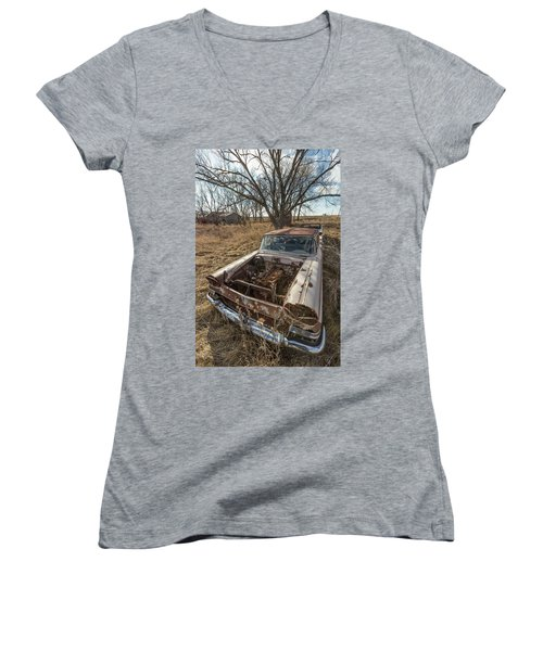 Rusty Women's V-Neck T-Shirt (Junior Cut) by Aaron J Groen