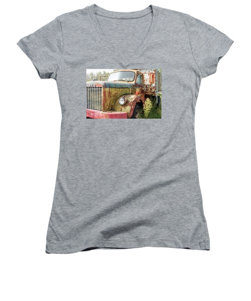 Rusty And Crusty Reo Truck Women's V-Neck (Athletic Fit)