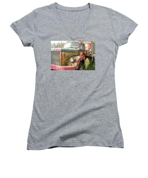 Rusty And Crusty Reo Truck Women's V-Neck T-Shirt