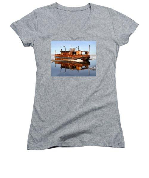 Rusty Barge Women's V-Neck