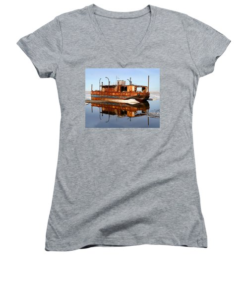 Rusty Barge Women's V-Neck