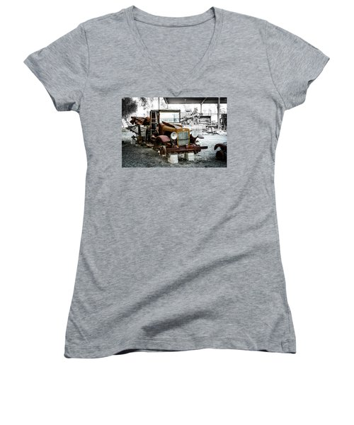 Rusty International Truck Women's V-Neck (Athletic Fit)
