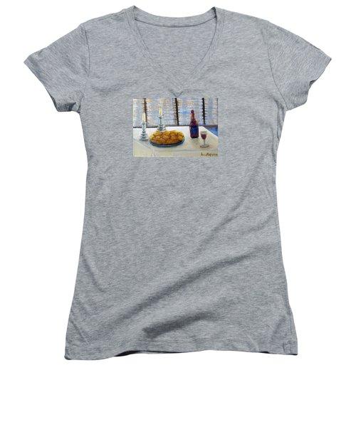 Sabbath Women's V-Neck T-Shirt (Junior Cut) by Laurie Morgan