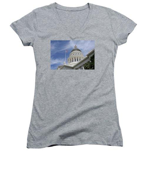 Sacramento Capitol Building Women's V-Neck