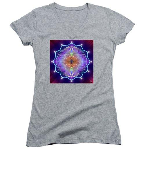 Sacred Geometry 641 Women's V-Neck T-Shirt