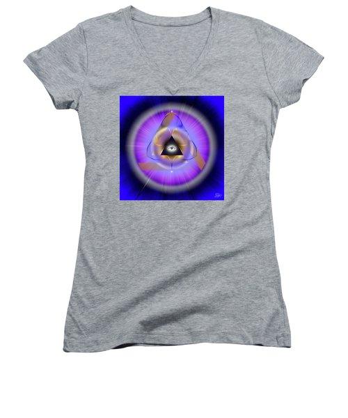 Sacred Geometry 642 Women's V-Neck T-Shirt