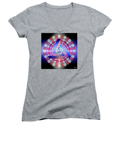 Sacred Geometry 646 Women's V-Neck (Athletic Fit)