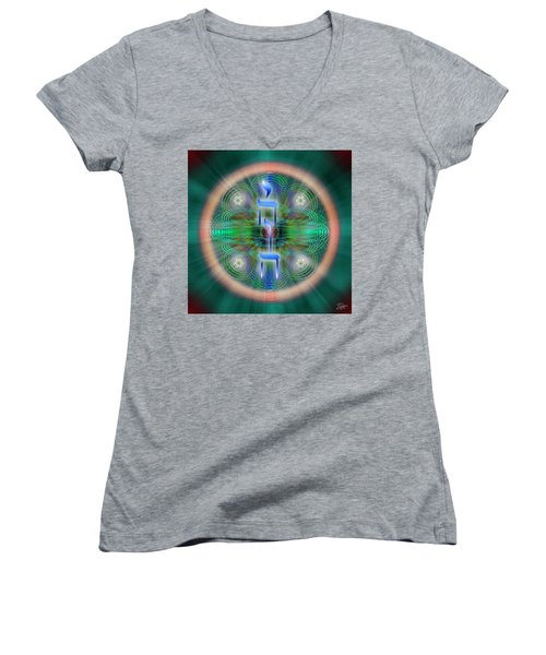 Sacred Geometry 648 Women's V-Neck (Athletic Fit)