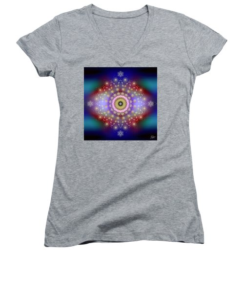 Sacred Geometry 650 Women's V-Neck (Athletic Fit)