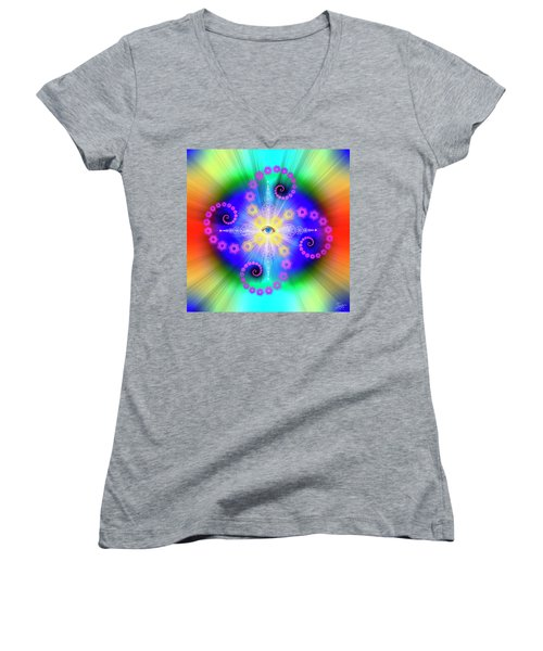 Sacred Geometry 653 Women's V-Neck