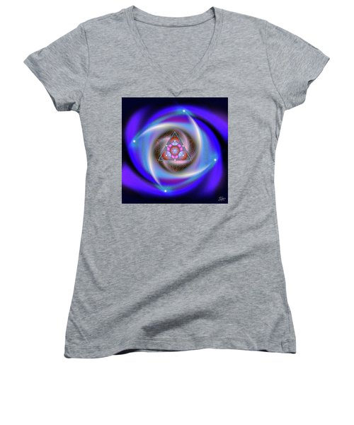 Sacred Geometry 687 Women's V-Neck