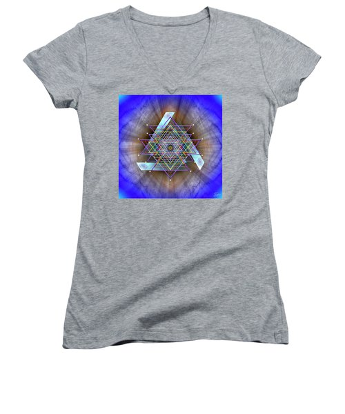 Sacred Geometry 717 Women's V-Neck