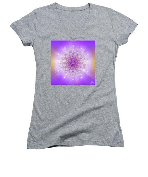 Sacred Geometry 721 Women's V-Neck