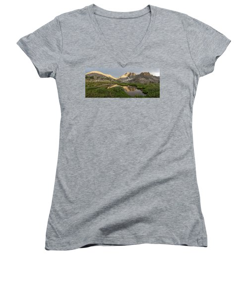 Women's V-Neck T-Shirt (Junior Cut) featuring the photograph Sacred Temple by Dustin LeFevre