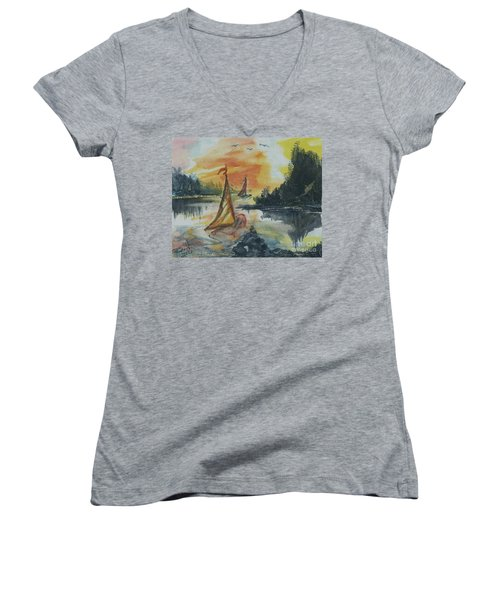 Sail Away Women's V-Neck