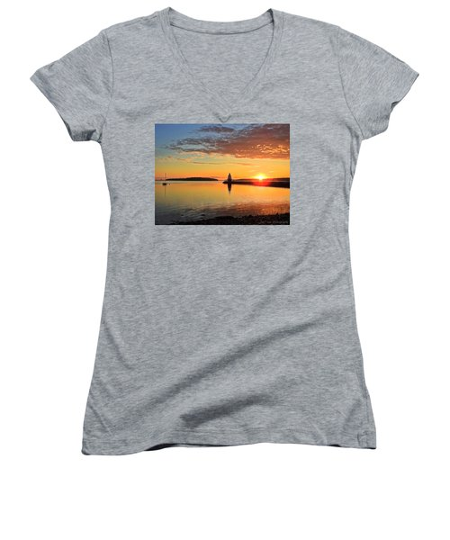 Sail Into The Sunrise Women's V-Neck