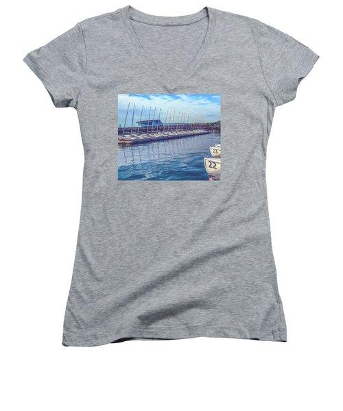 Sailboat Classes Women's V-Neck T-Shirt