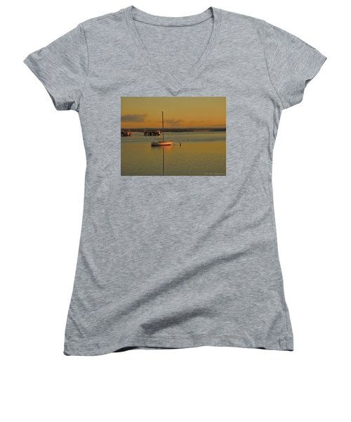 Sailboat Glow Women's V-Neck