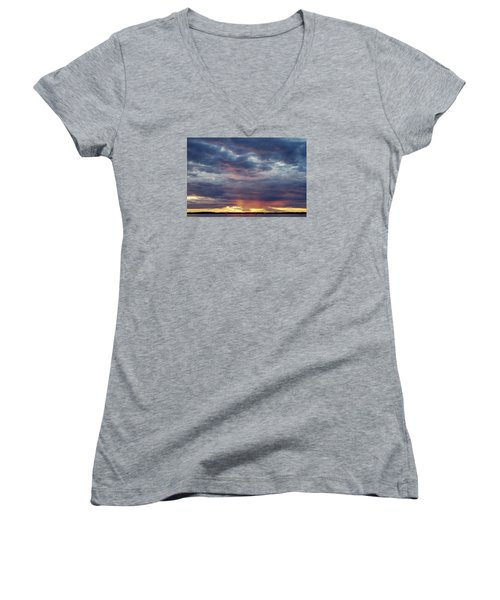 Sailboats On The Bay Women's V-Neck (Athletic Fit)