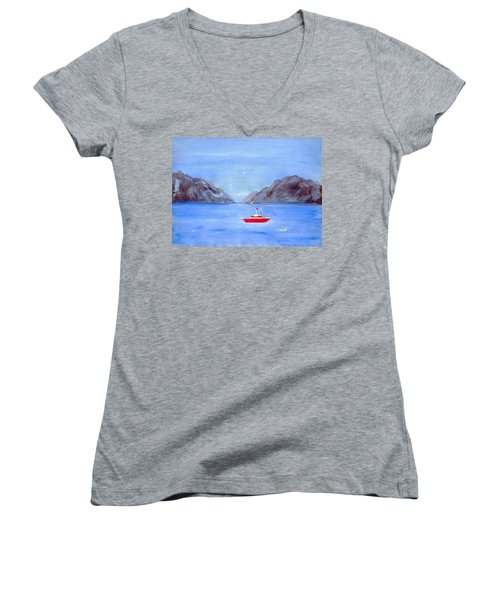 Sailing Away Women's V-Neck (Athletic Fit)