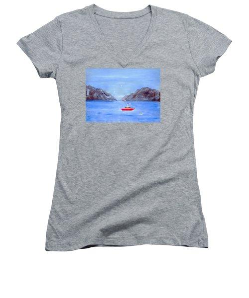 Sailing Away Women's V-Neck T-Shirt