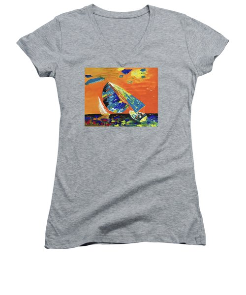 Sailing Women's V-Neck