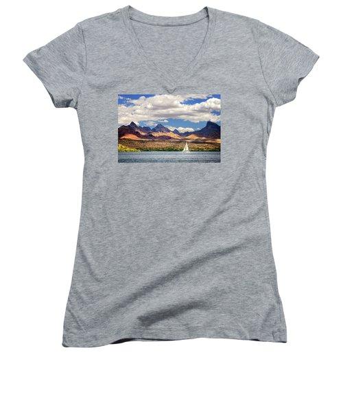 Sailing In Havasu Women's V-Neck T-Shirt