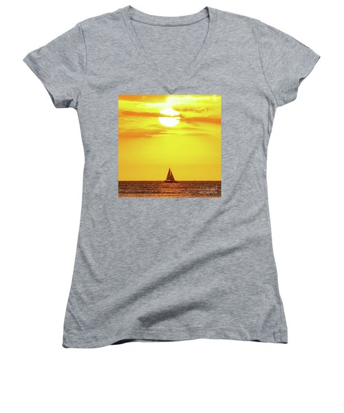 Sailing In Hawaiian Sunshine Women's V-Neck