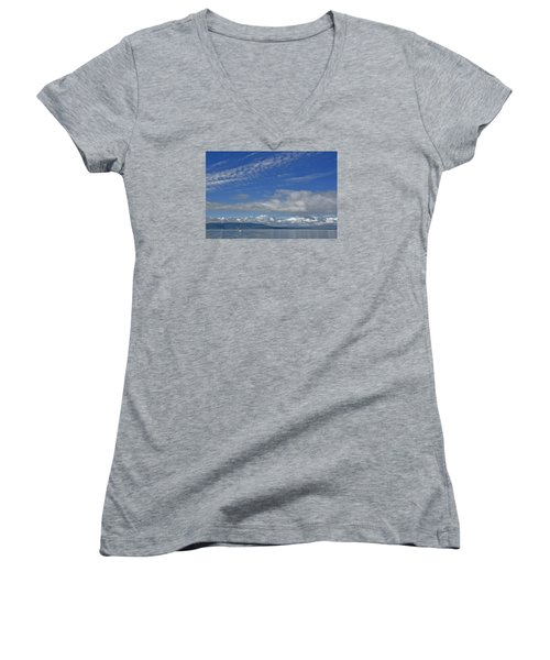 Sailing In The San Juan Islands Women's V-Neck (Athletic Fit)