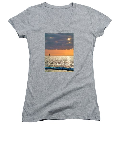 Sailing In The Sun Women's V-Neck