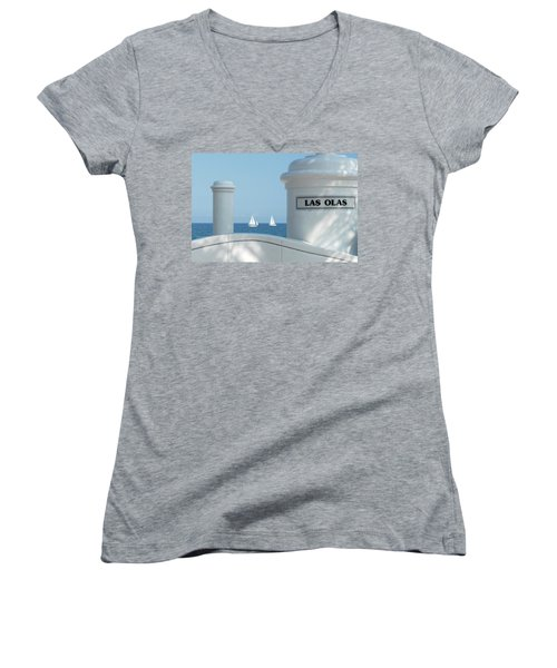 Sailing Las Olas Women's V-Neck T-Shirt