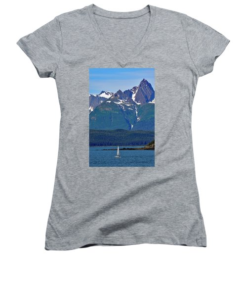 Sailing Lynn Canal Women's V-Neck T-Shirt