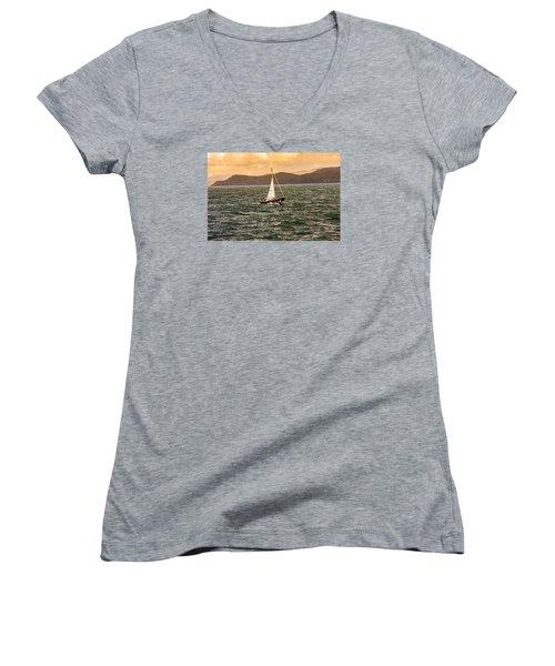 Sailing Outer Hebrides Women's V-Neck T-Shirt