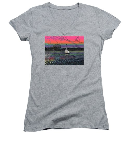 Sailing South Lake Union Women's V-Neck (Athletic Fit)