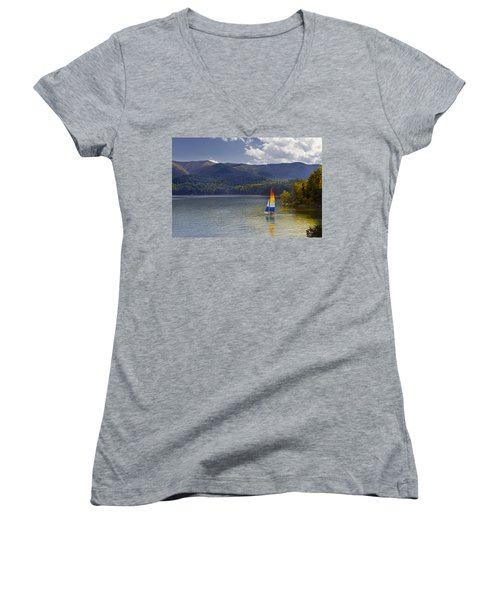 Sailing The Mountain Lakes Women's V-Neck