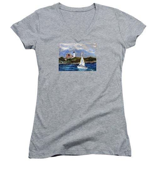 Sailing To Martha's Vineyard Women's V-Neck