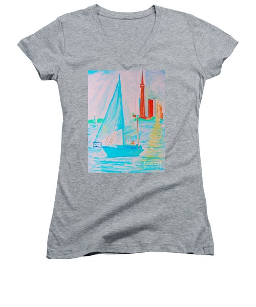 Sailing Toronto, Canada Women's V-Neck