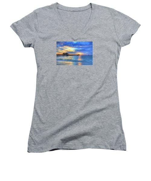 Sailor's Delight Women's V-Neck T-Shirt (Junior Cut) by Sharon Batdorf