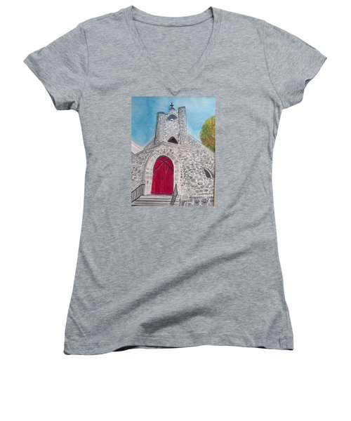 Saint James Episcopal Church Women's V-Neck