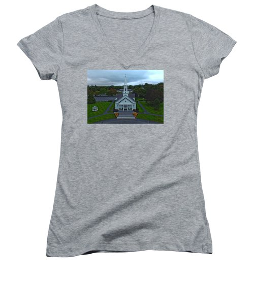 Saint Mary's Church From Above Women's V-Neck