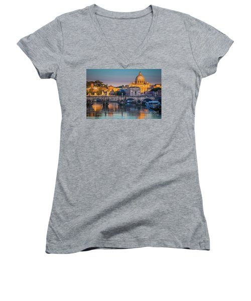 Saint Peters Basilica Women's V-Neck (Athletic Fit)