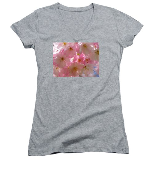 Sakura - Japanese Cherry Blossom Women's V-Neck