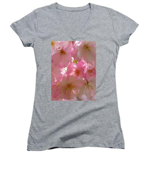 Sakura - Japanese Cherry Blossom Women's V-Neck (Athletic Fit)